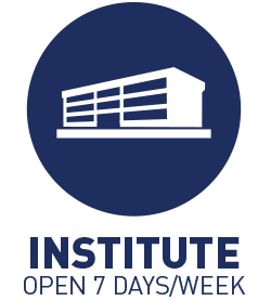 Institute is open 7 days/week