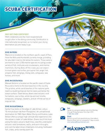 Scuba Certification Brochure