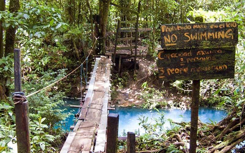 Rio Celeste No Swimming