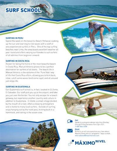 Surf Schools Brochure