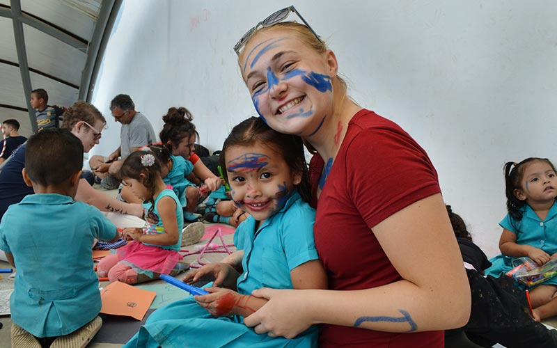 Volunteer Working with Children in Guatemala
