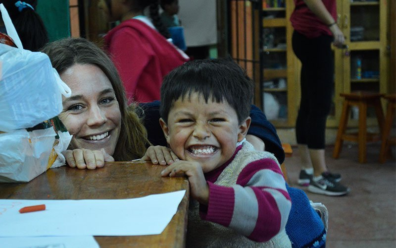 Volunteer working with Children